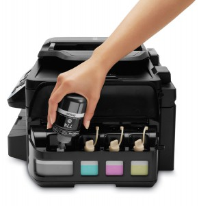 topratedprinter.com Epson WorkForce ET-4550 EcoTank Printer refilling ink tanks