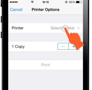 tap-select-printer